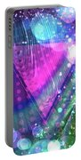 Pink Triangle Fractal Portable Battery Charger