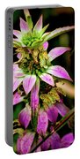 Pink Wildflower Portable Battery Charger