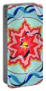 Pink, Yellow, Red Sun. Portable Battery Charger