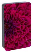 Pinked Zinnia Portable Battery Charger