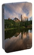 Pinnacle Peak Sunset Reflection Angles Portable Battery Charger