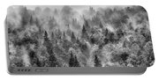 Pinsapos Into The Woods. Bw. Foggy Sunrise Portable Battery Charger