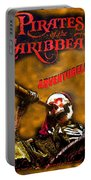 Pirates Skeleton Poster B Portable Battery Charger