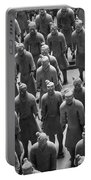 Pit 1 Of Terra Cotta Warriors In Black And White Portable Battery Charger