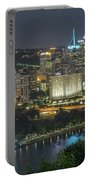 Pittsburgh Lights Portable Battery Charger by David R Robinson