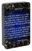 Poem Spirit Door Over Lapis Spiral In Bed Of Tourmaline Portable Battery Charger