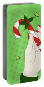 Pop Art Candy Cane Portable Battery Charger