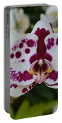 Portrait Of An Orchid Portable Battery Charger