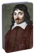 Portrait Of Descartes Portable Battery Charger