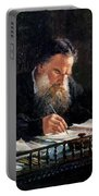 Portrait Of Leo Tolstoy Portable Battery Charger