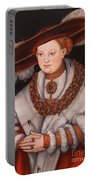 Portrait Of Magdalena Of Saxony, Wife Of Elector Koachim II Portable Battery Charger