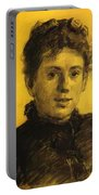Portrait Of Tatyana Tolstaya Leo Tolstoy Daughter Portable Battery Charger