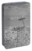 Portrait View Of Downtown San Francisco From Commertial Airplane Portable Battery Charger