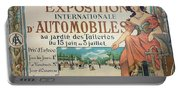 Poster Advertising The Exposition Internationale Automobiles At The Tuileries Gardens 1898 Portable Battery Charger