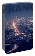 Poster Of Downtown San Francisco With Harbor On The Right Portable Battery Charger