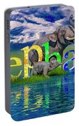 Precious E Is For Elephant Portable Battery Charger