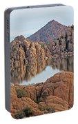 Prescott Arizona Watson Lake Hill Rcoks Water Sky Clouds 3 122019 4865 Portable Battery Charger