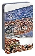 Prescott Arizona Watson Lake Rocks, Hills Water Sky Clouds 3122019 4867 Portable Battery Charger