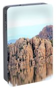 Prescott Arizona Watson Lake Water Mountains Lake Rocks Sky Reflections 4835 Portable Battery Charger