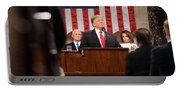 President Donald J. Trump Delivers His State Of The Union Address At The U.s. Capitol 2 Portable Battery Charger