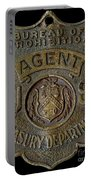 Prohibition Agent Badge Portable Battery Charger