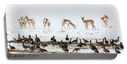 Pronghorn Antelope And Geese Portable Battery Charger