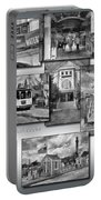 Provincetown Cape Cod Massachusetts Collage Pa Bw Portable Battery Charger
