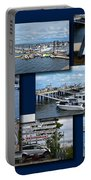 Provincetown Marina Cape Cod Massachusetts Collage Portable Battery Charger