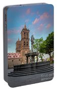 Puebla Zocalo And Cathedral Portable Battery Charger