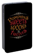 Pumpkins Sweets Spooks And Treats Halloween Hallowseve Gifts Portable Battery Charger