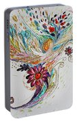 Pure Abstract #4. Trumpeting Angel Portable Battery Charger