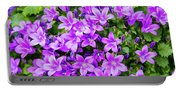 Purple Campanula Portable Battery Charger
