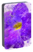 Purple Morning Glory With Pattern Portable Battery Charger