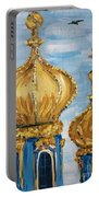 Pushkin Palace Towers Portable Battery Charger by Maria Langgle