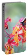 Queen Butterfly On Mexican Bird Of Paradise  Portable Battery Charger