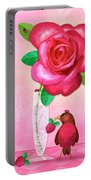 R Is For Rose And Robin Portable Battery Charger