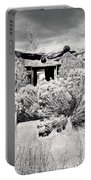 Rabbitbrush And Adobe Ruins In Sepia Portable Battery Charger