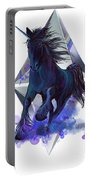 Rainbow Unicorn Portable Battery Charger by Sassan Filsoof