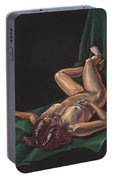 Reclining Nude Model Foreshortening Study Portable Battery Charger