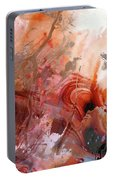 Red Abstract Art - The Vineyard - Sharon Cummings  Portable Battery Charger