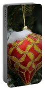 Red And Gold Ornament Portable Battery Charger