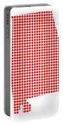 Red Dot Map Of Alabama Portable Battery Charger