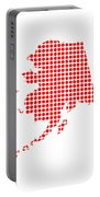 Red Dot Map Of Alaska Portable Battery Charger
