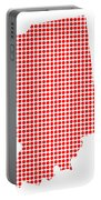 Red Dot Map Of Indiana Portable Battery Charger