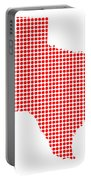 Red Dot Map Of Texas Portable Battery Charger