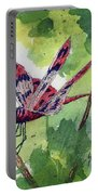 Red Dragonfly Portable Battery Charger by Sam Sidders