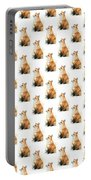 Red Fox Watercolor Pattern Portable Battery Charger