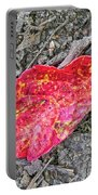 Red Leaf On Green's Hill Portable Battery Charger