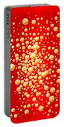 Red Party Bubble Background Portable Battery Charger
