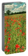 Red Poppies Meadow Portable Battery Charger